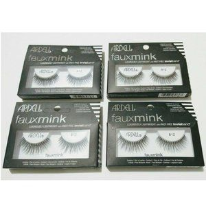 4x Ardell False Eyelashes Faux Mink 812 Invisiband